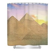 The Pyramids Of Giza 2 Shower Curtain