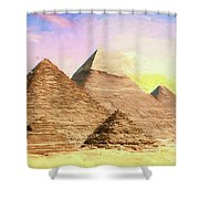 The Pyramids Of Giza Shower Curtain