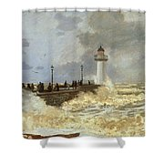 The Quay At Le Havre Shower Curtain