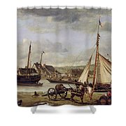 The Quay At Rouen Shower Curtain