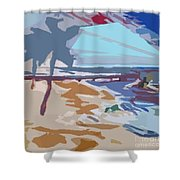 The Quay-seaside Shower Curtain