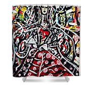 The Queen Of Hearts Shower Curtain
