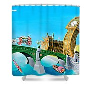 The Queens State Visit To Parliament Shower Curtain