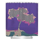 The Quilted Rain Tree At Ramona Shower Curtain
