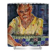 The Quilter Shower Curtain