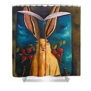 The Rabbit Story Shower Curtain