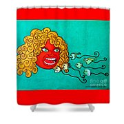 The Spermatozoes Race. Shower Curtain