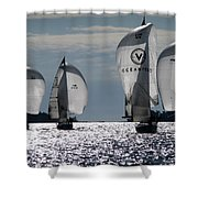 Sails Up - The Race Is On Shower Curtain