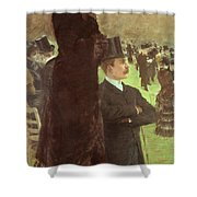 The Races At Auteuil Shower Curtain