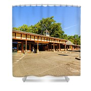 The Railroad Station In Scarsdale Shower Curtain