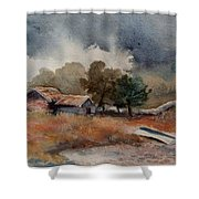 The Rain Is Coming Shower Curtain