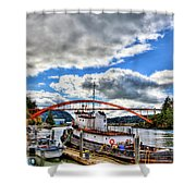 The Rainbow Bridge - Laconner Washington Shower Curtain