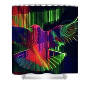 The Rainbow Dove  Shower Curtain