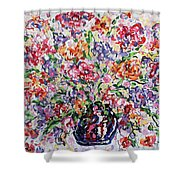 The Rainbow Flowers Shower Curtain