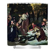 The Raising Of Lazarus Shower Curtain