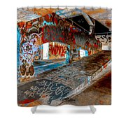 The Ramp At Night Shower Curtain