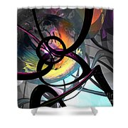 The Randomness Of It All Abstract Shower Curtain