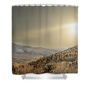 The Range, White Mountains  Shower Curtain