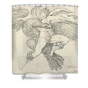 The Rape Of Ganymede Shower Curtain