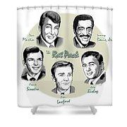 The Rat Pack Shower Curtain by Greg Joens