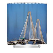 The Ravanel Bridge In Charleston Shower Curtain