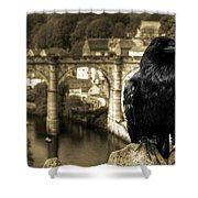 The Raven Of Knareborough Castle Shower Curtain