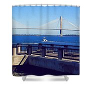 The Ravenel Bridge Shower Curtain