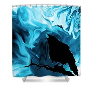The Raven's Blues Shower Curtain
