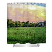 The Ray House Shower Curtain