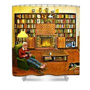 The Reading Room Shower Curtain