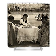 The Realistic Mystic-sepia Shower Curtain