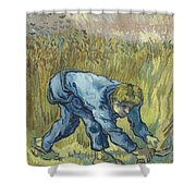 The Reaper After Millet Shower Curtain