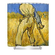 The Reaper Shower Curtain by Vincent van Gogh