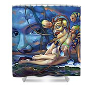 The Rebirth Of Venus Shower Curtain