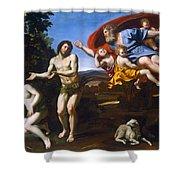 The Rebuke Of Adam And Eve Shower Curtain