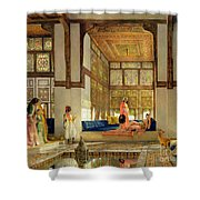 The Reception Shower Curtain by John Frederick Lewis