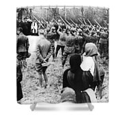 The Red Baron Burial Shower Curtain
