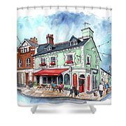 The Red Boat In Beaumaris Shower Curtain