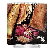 The Red Boot Shower Curtain