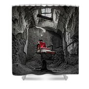 The Red Chair Shower Curtain