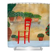 The Red Chair, Tuscany Shower Curtain