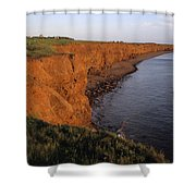 The Red Cliffs Of Prince Edward Island Shower Curtain