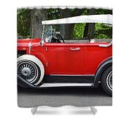 The Red Convertible Shower Curtain