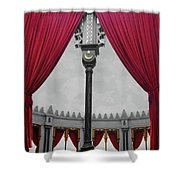 The Red Curtain Shower Curtain