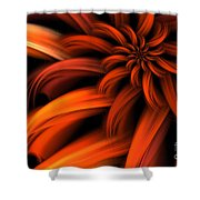 The Red Dahlia Shower Curtain