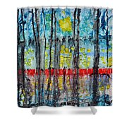 The Red Dock Shower Curtain
