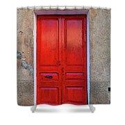 The Red Door. Shower Curtain
