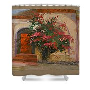 The Red Door - Catalina Island Shower Curtain