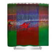 The Red Dragon Tatoo Shower Curtain