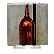 The Red Glass Bottke Shower Curtain